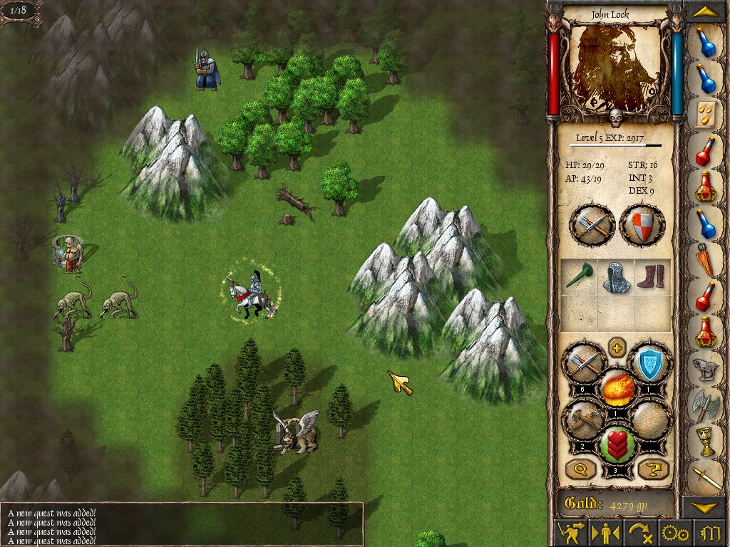 Turn-based strategy with strong RPG features from a fantasy medieval world